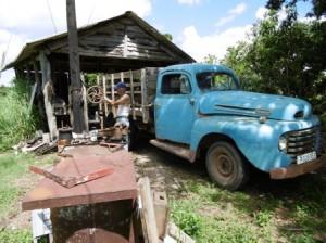 湊さんのトラック、60年以上活躍、大変古い