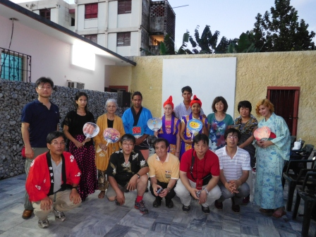 クバポン訪問団歓迎文化交流終了後の記念撮影